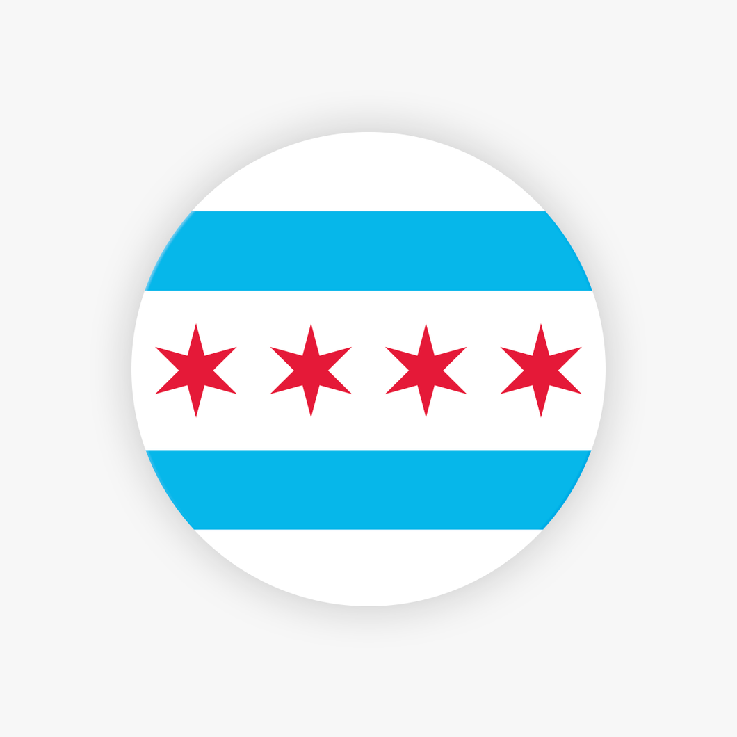 Chicago Flag Sticker Chicago Stickers Chicago Decal Wholesale Chicago Stickers