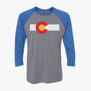 Colorado Flag Raglan Colorado Raglan Geenyus Wholesale Colorado T-shirts Raglans Long Sleeve