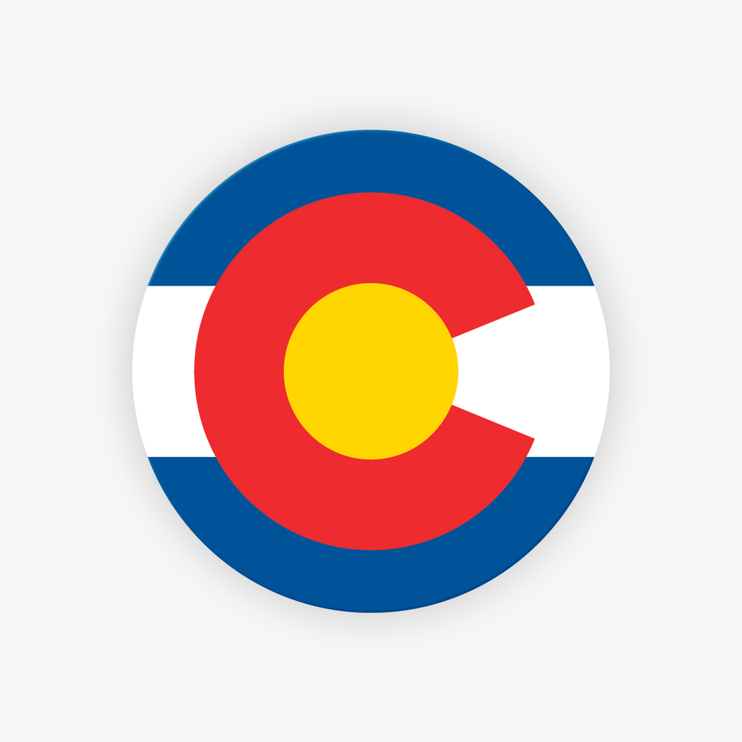 Colorado Flag Sticker Colorado Flag Decal Wholesale Colorado Stickers