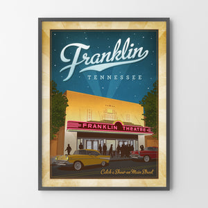 Franklin Theatre Poster Franklin Tennessee Theatre Print Geenyus Franklin Theater