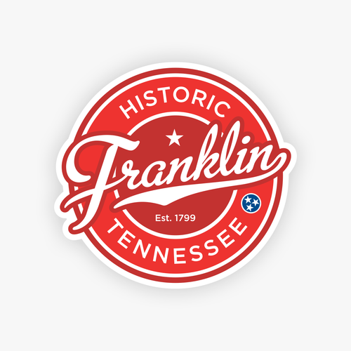franklin tn sticker franklin tennessee decal circle stickers decals cursive script
