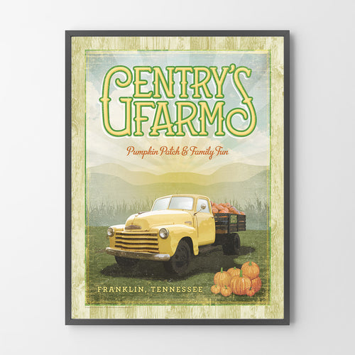 Gentry's Farm Franklin TN Gentry Farm Poster Franklin Geenyus Gentry Farm Print