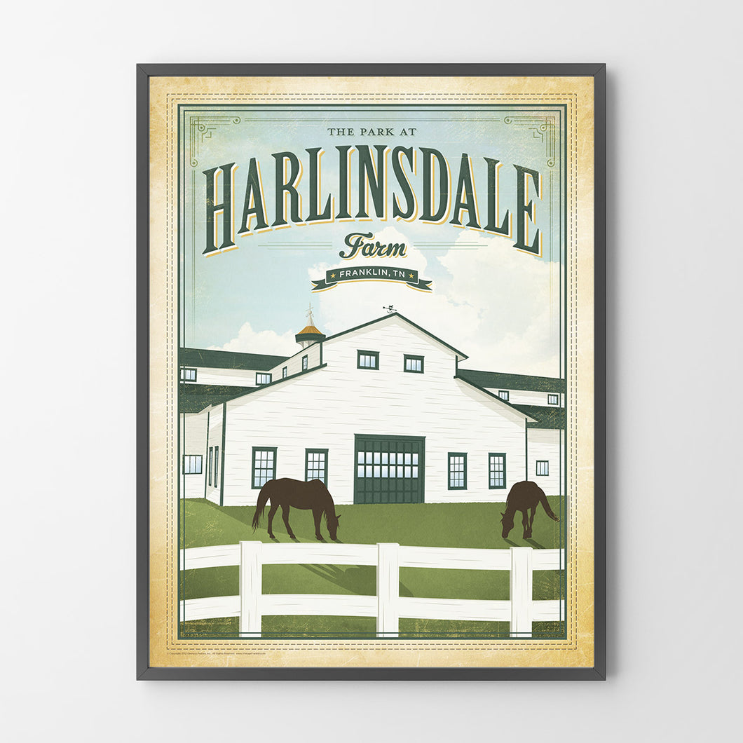 Harlinsdale Farm Poster Harlinsdale Farm Print Franklin TN Posters Geenyus