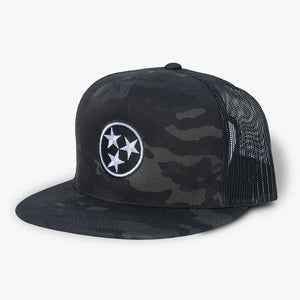 Tennessee Tristar Black Camo Hat Flexfit Multicam Geenyus Trucker Tennessee Flag Trucker Hat Cap
