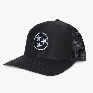 tennessee tri star black trucker hat tn tristar geenyus