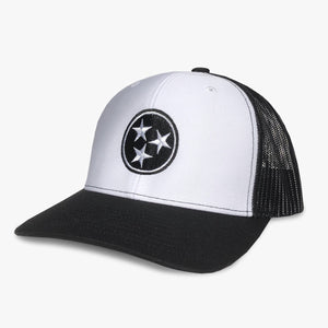 tennessee tri star white black trucker hat tn tristar geenyus