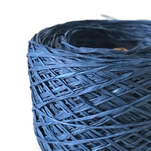 ns-12 naturally dyed indigo paper wrapped in raw silk