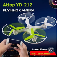 Clearance Attop YD-212 2.4G 4CH Wifi FPV Phone RC Quadcopter Headless Drone with 0.3MP HD Camera Real Time Video Helicopter Toy RT