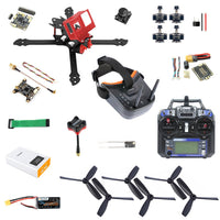 QWinOut Owl260 260mm DIY RC FPV Racing Drone Kit with 260mm Frame Betaflight OmniF4 Pro V2 Flight Controller Razer Micro FPV Camera LST-009 FPV Goggles