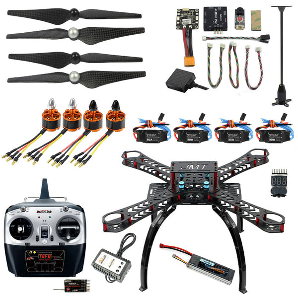 QWinOut X4M360L 2.4G 8CH 360 Mini RC Airplanes Unassemble DIY Quadcopter FPV Upgradable w/ Radiolink Mini PIX M8N GPS Altitude Hold