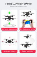 QWinOut New Pro Foldable GPS Drone KY601G 4K HD Camera 5G WIFI FPV Drone LED 2.4G 4CH 1.8km Long Distance 20 Mins Flight RC Quadcopter