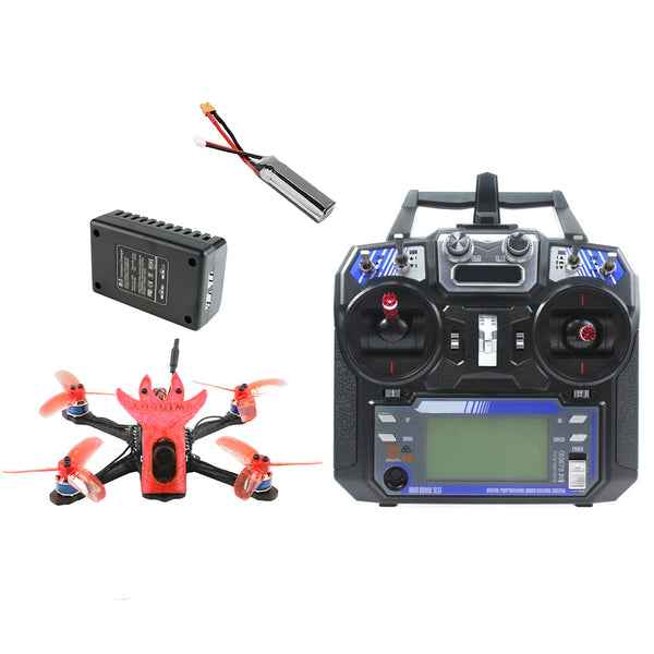 QWinOut Featherbird-135 135mm Brushless FPV Racing Drone 2S DIY RC Quadcopter RTF with MiniF4 FC Flysky FS I6 Remote Controller 7.4V 2S 450MAH Battery