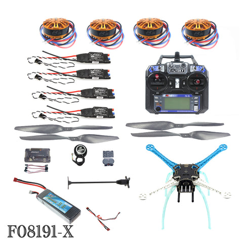 QWinOut 2.4G 6ch RC Quadcopter Drone 500mm S500 PCB APM2.8 M8N GPS RTF Full Kit DIY Unassembly Brushless Motor ESC Battery