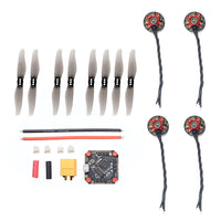 FEICHAO DIY RC Drone Accessories Kit GHF411AIO F4 Flight Controller 1204 5000KV Motors 3018 Propeller for FPV Racing Drone Toothpick Quadcopter
