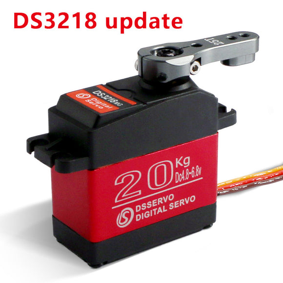 Dsservo Waterproof servo DS3218 Update and PRO high speed metal gear digital servo baja servo 20KG/.09S for 1/8 1/10 Scale RC Cars