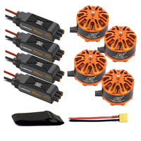 QWinOut DIY Quadcopter Drone Motor Combo 4pcs 3508 380kv Motor + 4pcs Hobbywing XRotor Pro 40A ESC + XT60 Connector+Fastening Tape