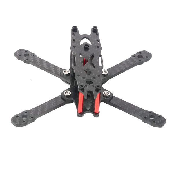 QWinOut FS135 135mm Wheelbase 3mm Arm Thickness 3K Carbon Fiber Frame Kit for RC Drone FPV Quadcopter 3 inch Props 1103/1104/1305 Motor
