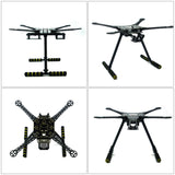 QWinOut S600 Super Hard Arm 4-Axis Rack Quadcopter Frame Kit with Landing Gear Skid for DIY RC Drone Kit