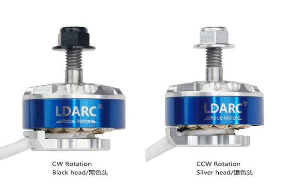 LDARC XT2306 1700KV CW CCW Motor for FPV Racing Drone Quadcopter Lightweight Design Silver Plate Line