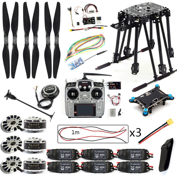 QWinOut DIY Set PIX4 Flight Control ZD850 Frame Kit M8N GPS Remote Control Radio Telemetry ESC Motor Props for RC 6-Axle Drone