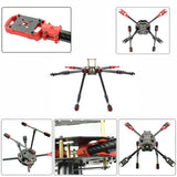 QWinOut J630 2.4GHz 4-Aixs Aircraft DIY RC Multicopter ARF 630mm Frame Kit Radiolink MINI PIX+GPS Brushless Motor ESC Altitude Hold
