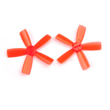 QWinOut 2 pairs 2035 Propeller 2 inch 50.8mm PC Props 5-Paddle CW CCW paddle 1.5mm hole For indoor brushless FPV Racing Drone Quadcopter