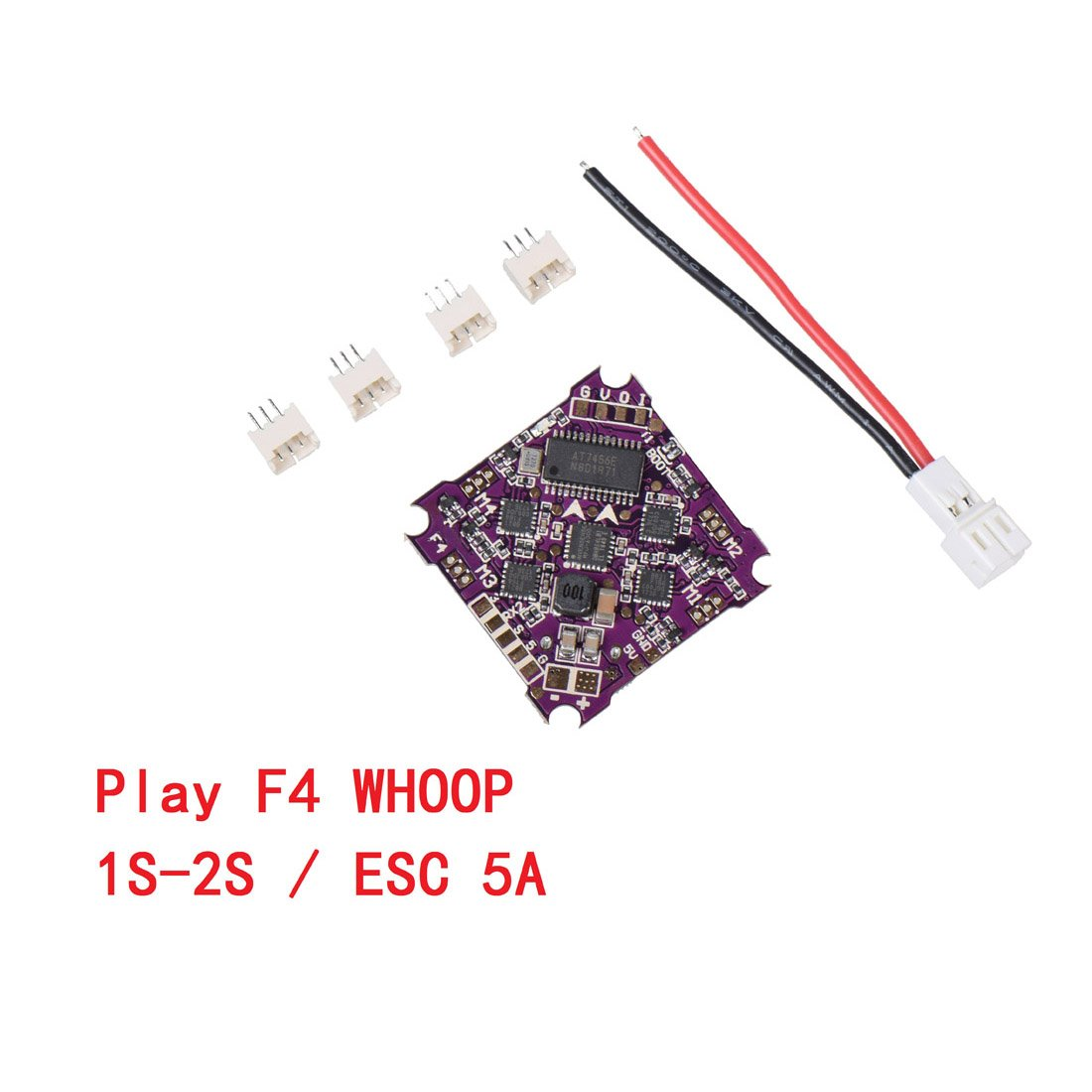 QwinOut Play F4 Whoop Flight Controller AIO OSD BEC & Built-in 5A BL_S 1-2S 4in1 ESC for RC Drone FPV Racing Quadcopter