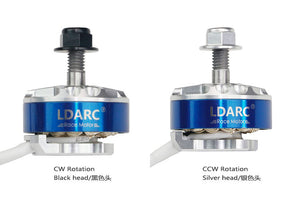 LDARC XT2306 2500KV CW CCW Motor for FPV Racing Drone Quadcopter Lightweight Design Silver Plate Line