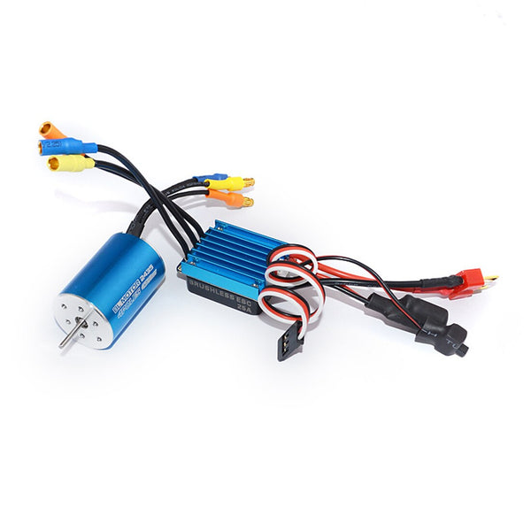 2435 4800kv 4500kv 4P Sensorless Brushless Motor & 25A Brushless ESC Electric Speed Controller for 1/14 1/16  RC Car Truck