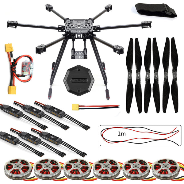 QWinOut ZD850 Frame Kit with Landing Gear +Hub 350KV Brushless Motor 40A ESC 1555 Propellers For RC DIY FPV Aircraft Hexacopter