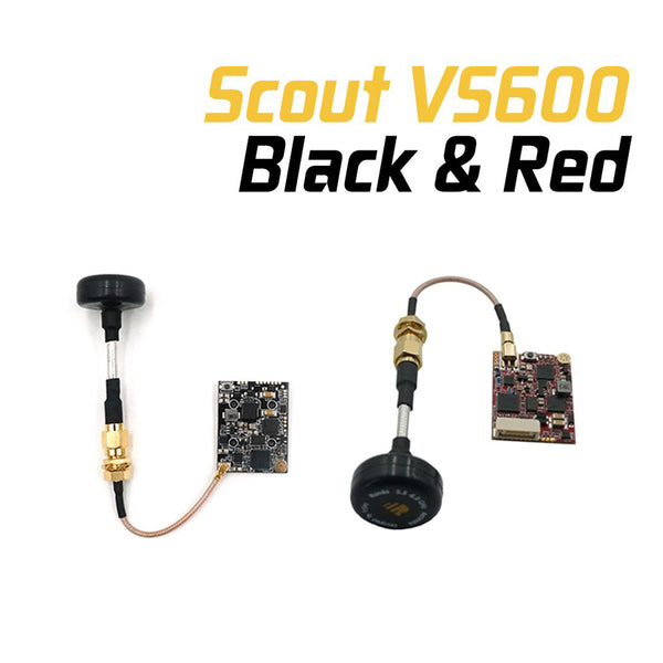 FrSky Scout VS600 VTX Built-in Microphone Support S.port Audio Telemetry for FPV Racing Drone Black / Red