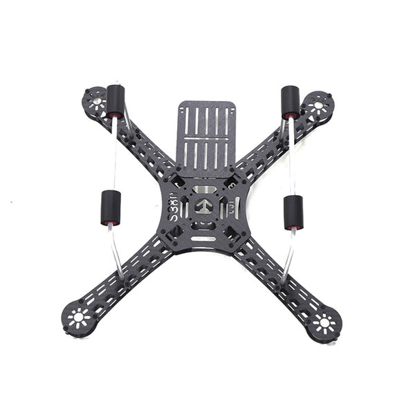 QWinOut 380mm Wheelbase Four-axis Carbon Fiber Frame Kit with Fixed Landing Gear for DIY Drone Quadcopter Kit