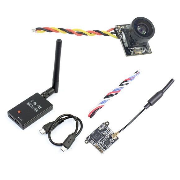 QWinOut FE200T 5.8G 40CH FPV Transmitter VTX with 199C Mini Camera UVC Receiver For Android Smartphone FPV Racing Drone