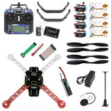 QWinOut Full Kit DIY RC Drone Quadrocopter Aircraft Kit F330 MultiCopter Frame 6M GPS APM2.8 Flight Control FS-i6 TX