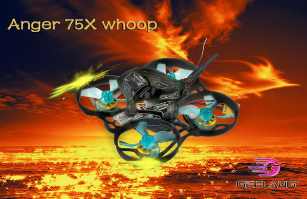 GEELANG ANGER 75X Whoop 3-4S FPV Racing Drone Quadcopter BNF / PNP with SI-F4 FC Caddx EOS V2 FPV Camera