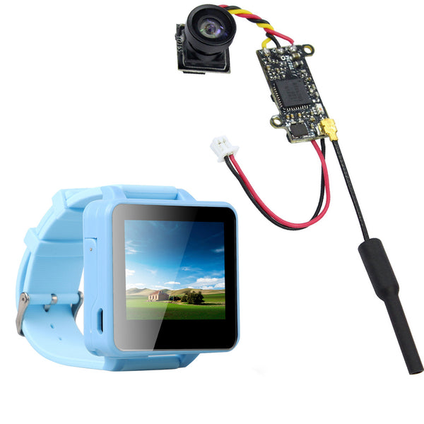 QWinOut FPV200 5.8GHz 48CH OSD Raceband DVR FPV Watch 2inch LCD 960*240 Display FPV Receiver with FPV Split Camera NTSC 25MW 48CH for DIY FPV Racing Drone