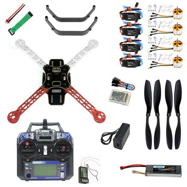 QWinOut Full Set DIY RC Drone Quadrocopter 4-axis Aircraft Kit F330 MultiCopter Frame QQ Super Flight Control FS-i6 Transmitter