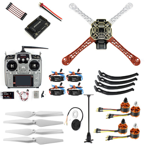QWinOut Aircraft RC Quadrocopter Helicopter ARF F450-V2 Frame GPS APM2.8 AT10 TX/RX No Battery