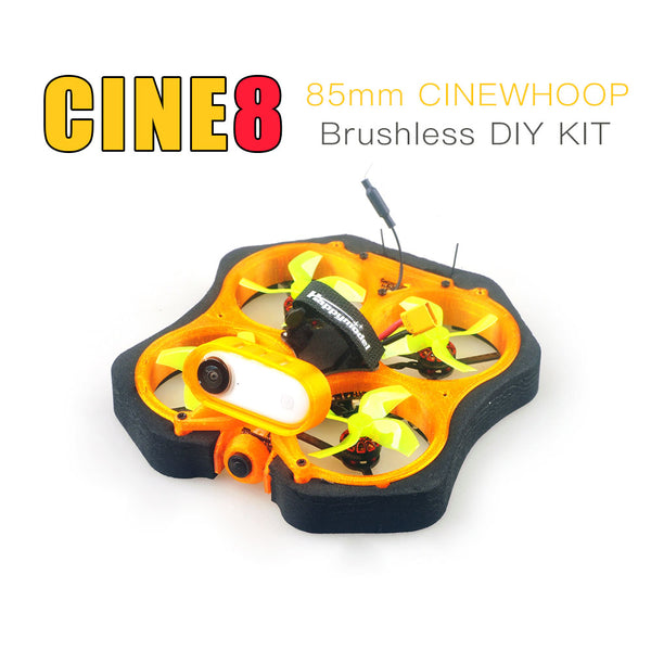 Happymodel CINE8 85mm Brushless Cinewhoop FPV Racing Drone with 1200 TVL Camera Unassembled DIY KIT Version with Mount Compatible for Insta360