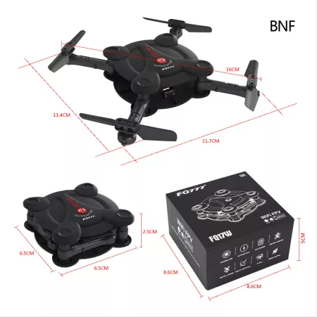 Clearance FQ777 FQ17W Mini Pocket Drone Wifi FPV 0.3MP Camera Quadcopter 2.4G RC Foldable Helicopter