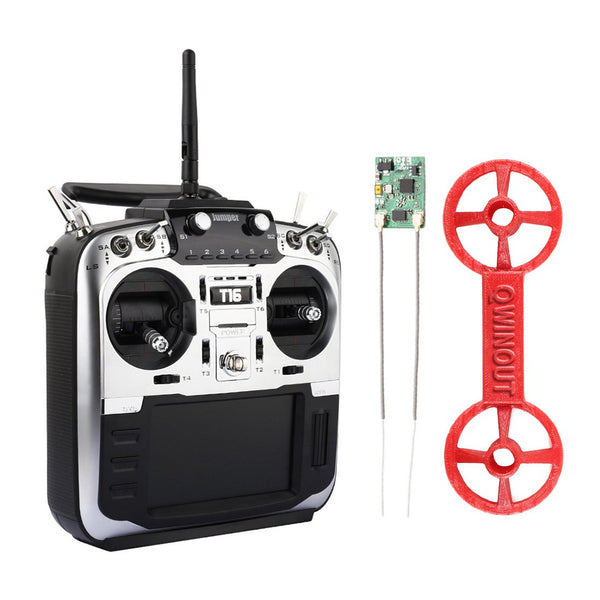 Jumper T16 Pro Hall Gimbal Open Source Built-in Module Multi-protocol Radio Transmitter 2.4G 16CH 4.3 LCD with R1F Receiver and Stick Cover