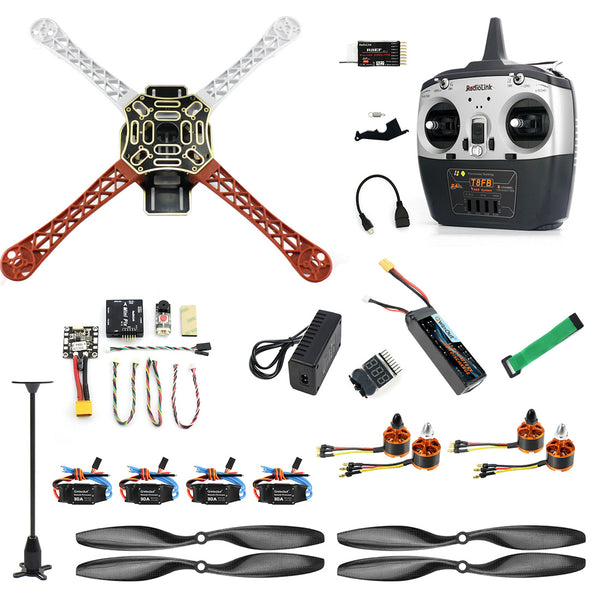 QWinOut 2.4G 8CH F450 RC Racing Drone Unassemble DIY Quadcopter FPV Upgrade w/ Radiolink Mini PIX M8N GPS Altitude Hold Module