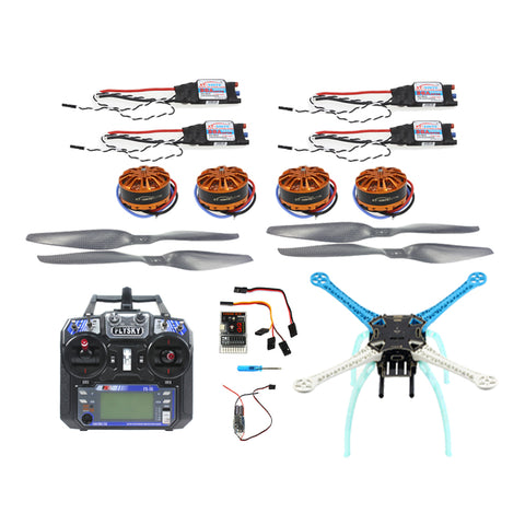 QWinOut S500 PCB DIY RC Drone Kit QQ Super Flight Controller Multicopter 500mm Multi-Rotor 700KV Motor 30A ESC 6CH 9CH Transmitter NO Battery Charger