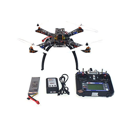 QWinOut 4-Axis Assembled RC Quadcopter Drone : X4M380L Fiberglass Frame + APM2.8 Flight Control + FS-i6 6CH Transmitter + GPS + Battery