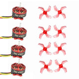FullSpeed FSD1103 11000KV Brushless Motors with GEMFAN 1636 1.5mm PC Propeller Props for TinyLeader HD Brushless Whoop DIY Racing Drone Quadcopter