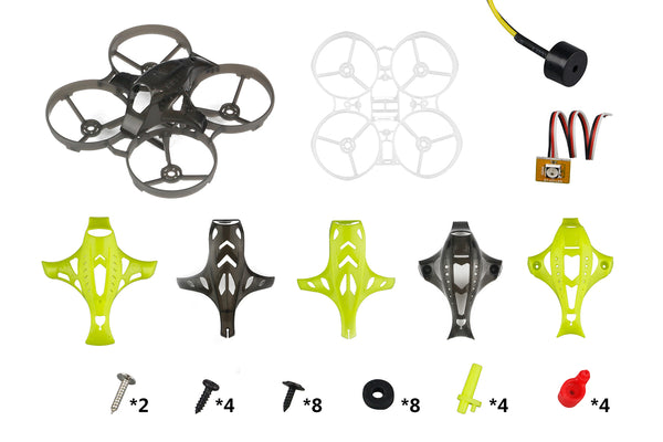 LDARC ET75 74mm 3S Cinewhoop Frame Kit with 6 Canopy for 1540 Propeller Support Runcam Nano and Caddx Turtle 1080P HD FPV Camera Racing Drone Quadcopter