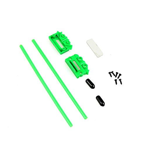 Qwinout CC3D Atom V Type Receiver Antenna Pedestal Fixing Seat Mount Holder for DIY RC Racing Drone Multirotor FPV Quadcopter - Green
