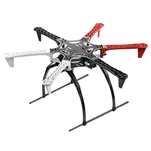 QWinOut F550 Air Frame 550mm Drone Frame with Universal Tall Landing Skid PTZ for DIY MultiCopter Hexacopter UFO Helicopter