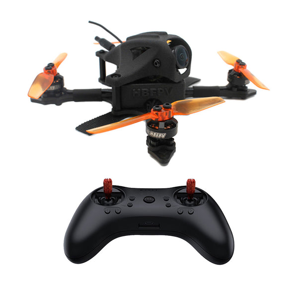 HBFPV FF65 V2 65mm 2.5 Inch 4S Toothpick FPV Racing Drone RTF with F4 FC OSD 12A Blheli_S ESC 1103 7000KV Motor T8S Radio Control