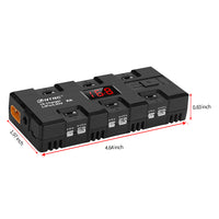 HTRC X6 4W 6 1A 6 Battery Charger for Micro mCP X JSt Port 1S LiPo / LiHV Battery